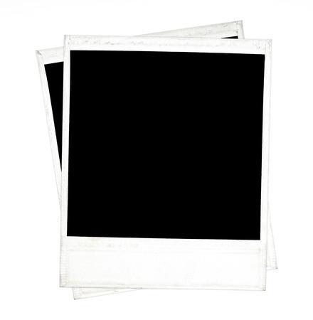 polaroid frame: photo polaroid frames on white