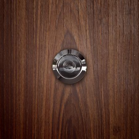 door lens peephole on lwooden.
