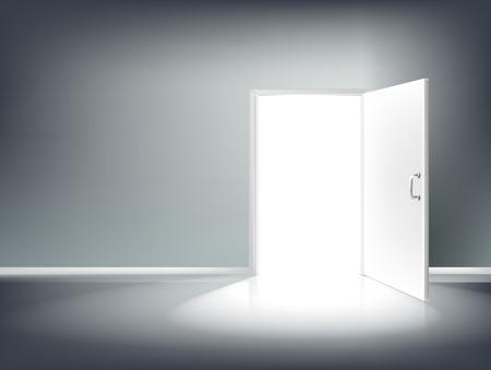 Open Door Beleuchtung Vektor-EPS-