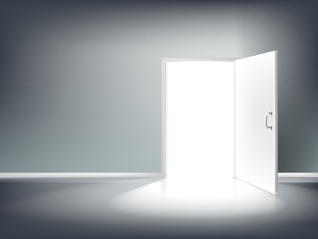 Open Door Lighting vector eps