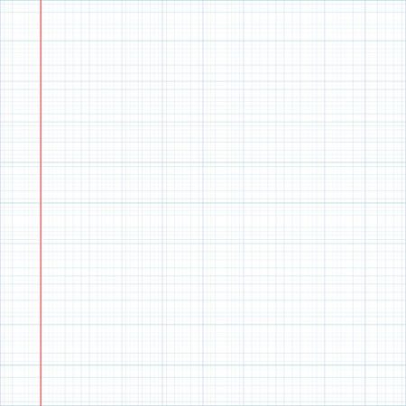 red line, graph paper vector  Illustration