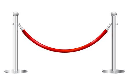 白で隔離される支柱バリア  イラスト・ベクター素材