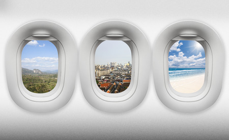 view of aircraft windows