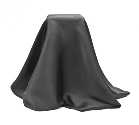Box covered with black cloth. Stok Fotoğraf - 26618735