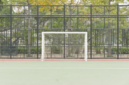 futsal: A soccer net, front view