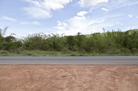 side road: asian, road side country  background Stock Photo