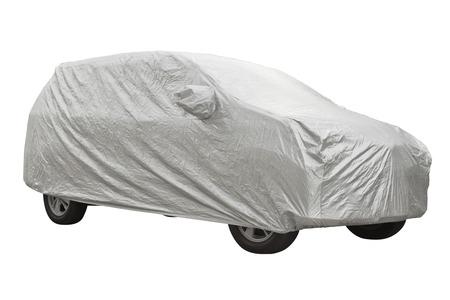 Car cover isolated on white background Reklamní fotografie