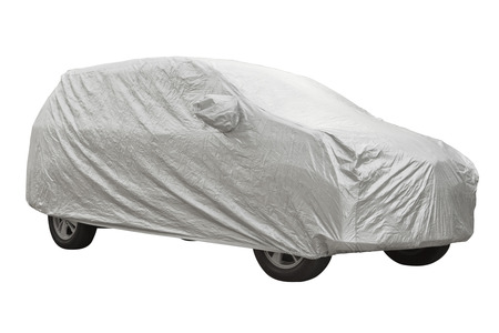 Car cover isolated on white background Foto de archivo