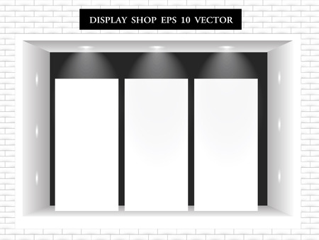 boutique display: Modern Shop Window Display vector