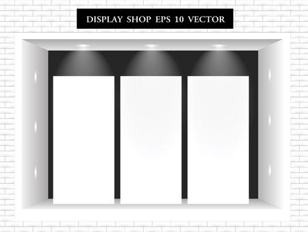 shop display: Modern Shop Window Display vector