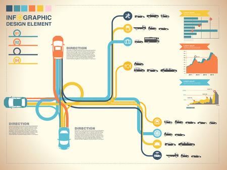 information highway: highway infographic background