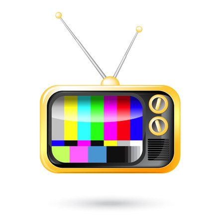 retro tv: illustration of retro tv.