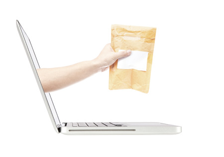 concept images: immagini concetto di shopping online con il computer portatile Archivio Fotografico