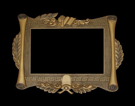 cadre antique: Fond d'or Vintage cadre antique sur l'obscurit�
