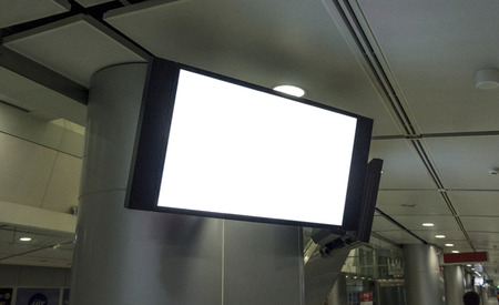 LCD TV display with empty copy space.