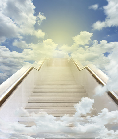 white stairway to heaven background