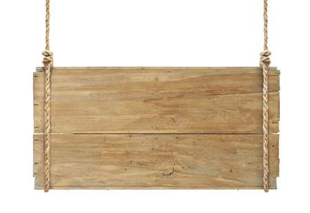 drewniany znak wiszące na liny samodzielnie