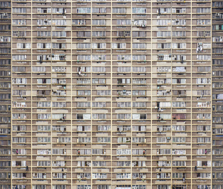 apartment blocks: Old apartment building pattern background. Stock Photo