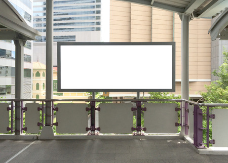 empty space: Blank Billboard with empty copy space. Stock Photo