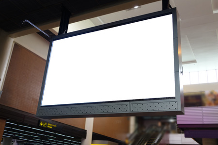 lcd tv: blank led billboard at airport Stock Photo