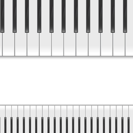ebony: Piano keys viewed, vector background Illustration
