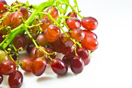 red grape on white background Stock Photo