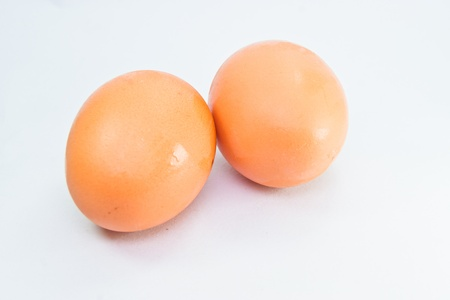 two eggs isolated on white background Stock Photo