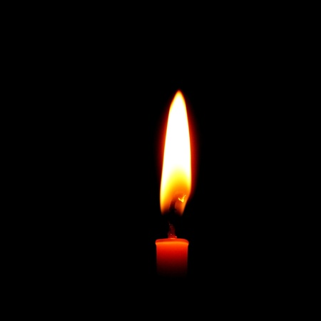 Candle, Isolated On Black Background photo