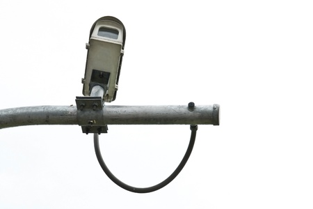 CCTV camera on white isolated background Stock Photo - 14333322