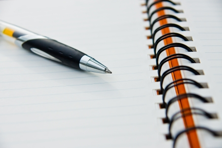 Notebook and a pen Stock Photo