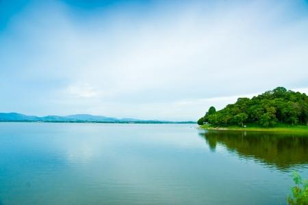 nature landscape: water reservoir