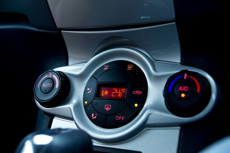 Conditioner and air flow control in a car Stock Photo