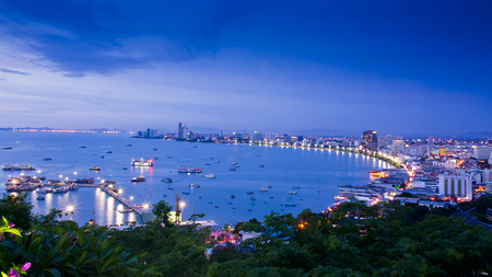 Pattaya City, famous tourist attraction in Thailand