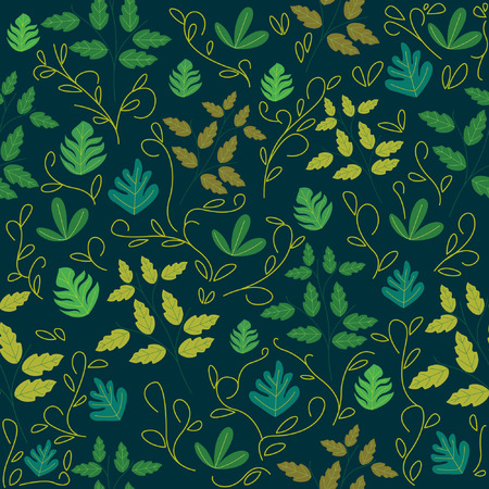 Seamless pattern with leaves with very beautiful colors. Botanical seamless pattern
