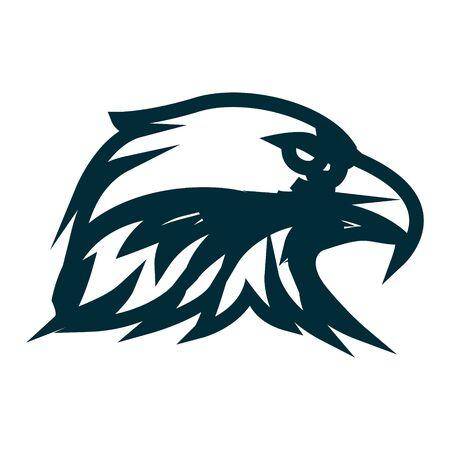 Eagle line art logo design. Eagle head outline vector illustration. Eagle head minimalist icon design. Vector line art with eagle head theme
