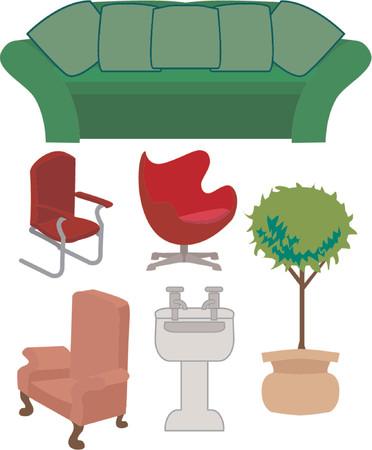 Eine Auswahl von Möbel