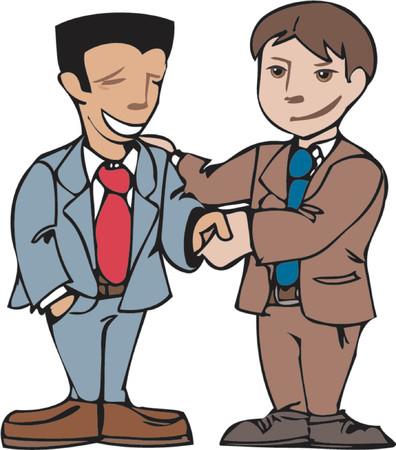 zakelijke mannen schudden handen Vector Illustratie