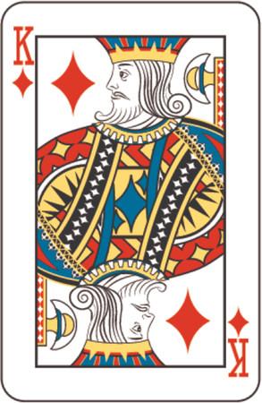Rey de diamantes procedentes de baraja de naipes