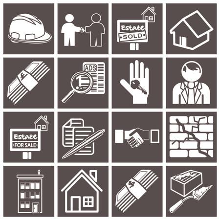 real estate icon series set