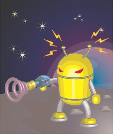 Un robot  Ilustración de vector