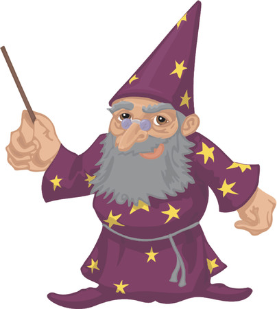 A friendly wizard Stock Vector - 663247