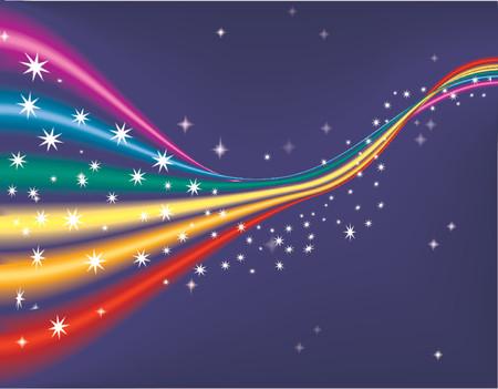 Un arco iris de fondo, sombreado por todas las mezclas, no utilizan mallas.  Ilustración de vector