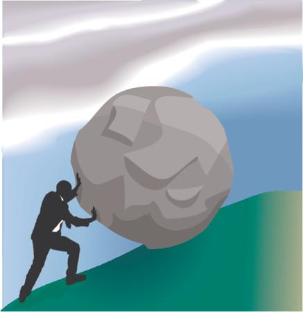 Difficult Business Task. Conceptual piece, a very difficult task in business Vektoros illusztráció