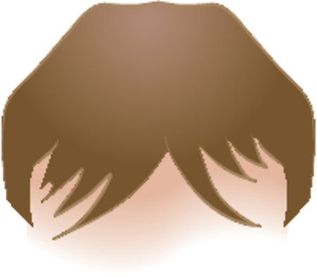 Body parts hair. An illustration of human head of hair, no meshes used