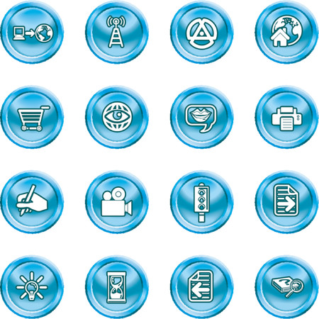 Internet And Computing Media Icons. A set of internet and computing media icons Stock Vector - 1103740
