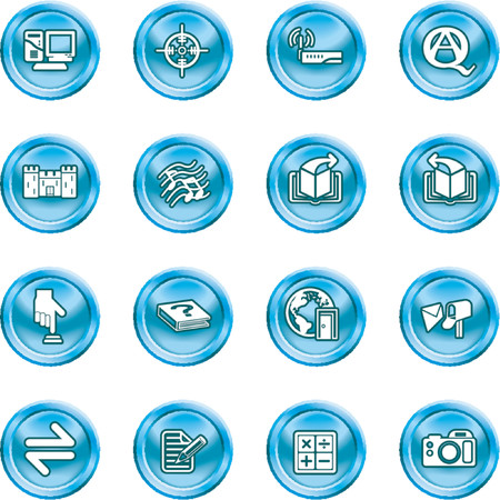 Internet or Computing Icon Set.  No meshes used Stock Vector - 1103742