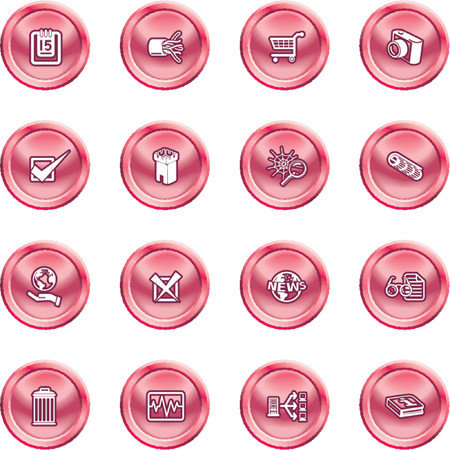 Computer and Web Icons. A set of computer and web icons Stock Vector - 1280203