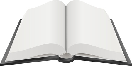 Open Book Illustration. A Vector illustration of an open book with blank pages  Çizim