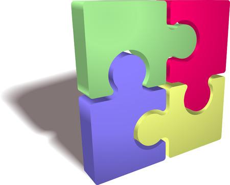 Een illustratie van een voltooide puzzel pictogram