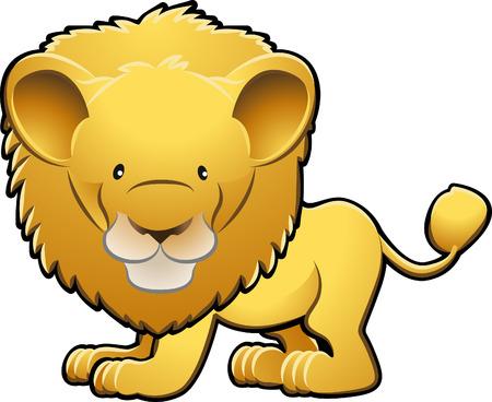 Une illustration vectorielle d'un lion mignon